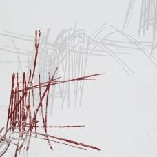 Perdea Grace 404, 300cm, alb cu rosu