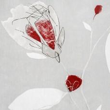 Perdea Passion Light 408, 300cm, crem deschis cu rosu