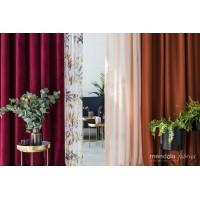 Draperie Castellano catifea, 280cm, rosu-bordo
